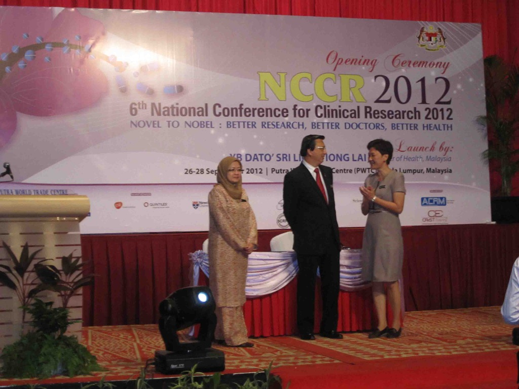 Event Report: 6th National Conference for Clinical Research (NCCR) 2012