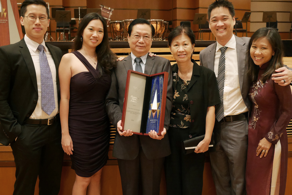 Family photograph after receiving the Merdeka Award in 2013