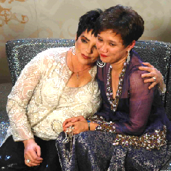 In Vienna presented by Liza Minnelli (left) with the Life Ball Crystal of Hope for TREAT Asia in 2005.