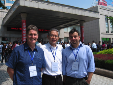 Prof. Ng and his two co-authors (Prof. Tocher and Dr. Turchini) at a conference in Qingdao, China