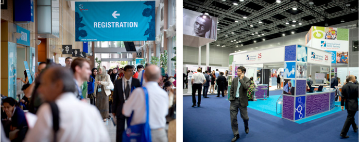 IAS 2013 registration and exhibition hall at the KL Convention Centre.