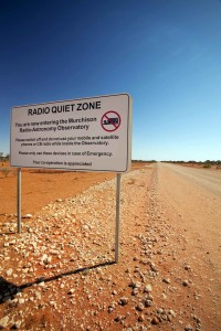 Figure 2: Maintaining radio-quietness is essential if the SKA and other radio telescopes are to observe faint radio signals from space without interference from man-made signals. Photo: Western Australia Department of Commerce.