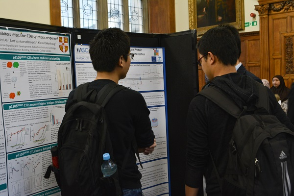 Conference participants at one of the poster sessions.